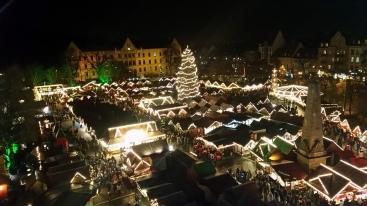 Erfurter Weihnachtsmarkt vom Riesenrad aus